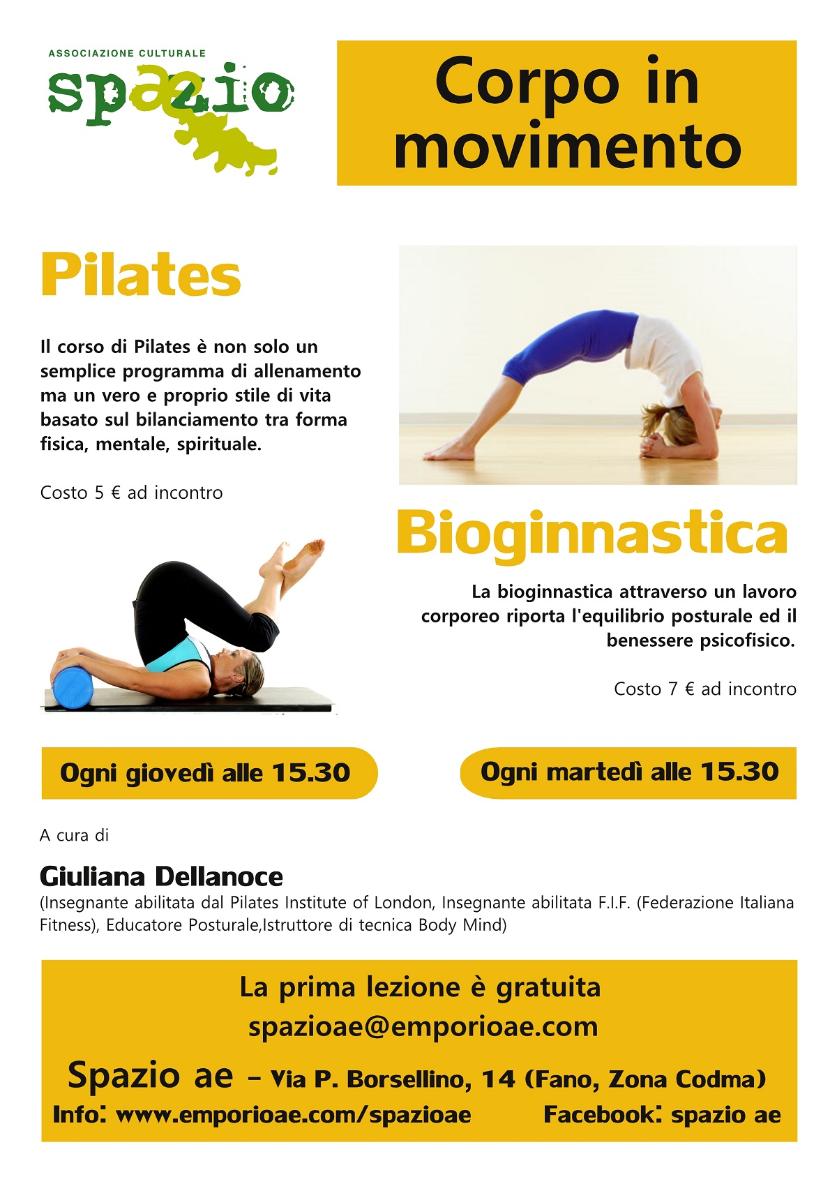 Bioginnastica e pilates